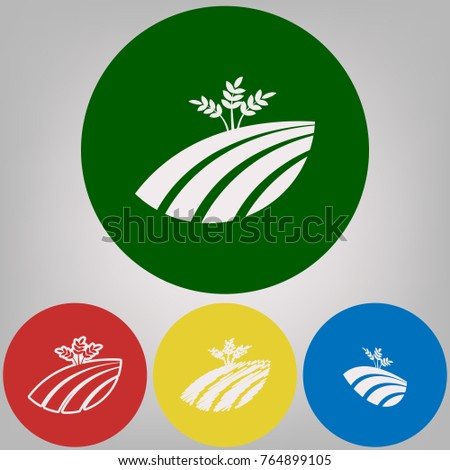 wheat field sign vector 4
