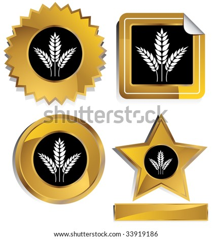 wheat icon gold window