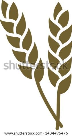 Wheat icon symbol for gluten free image corn or field picto