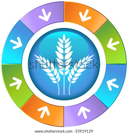 wheat icon wheel