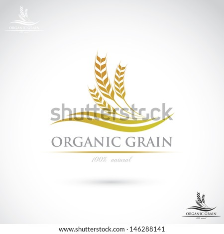 Wheat label vector illustration