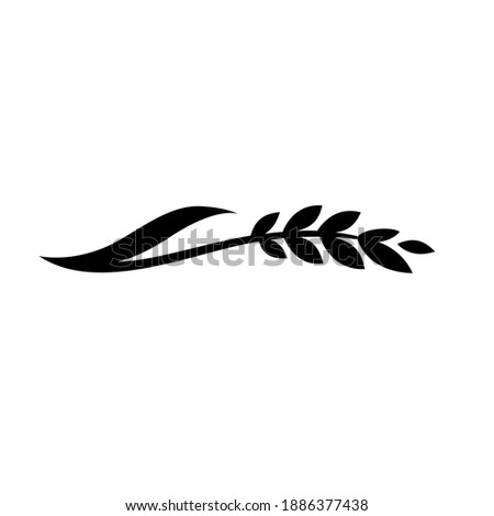 Wheat Rice Logo Sprig of Wheat Sprig of Rice Symbol Stock photo ©