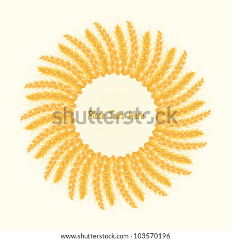 Wheat Round Frame. Harvest Conceptual Illustration