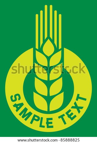 wheat sign - badge (design)
