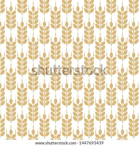 Wheat spike. Grain plant silhouette. Wheat pattern. Template vector.
