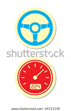 Wheel and Speedometer Icons