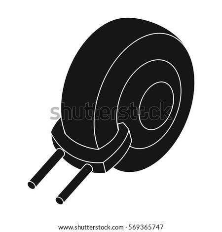 Wheel clamp icon in black style isolated on white background. Parking zone symbol stock vector illustration.