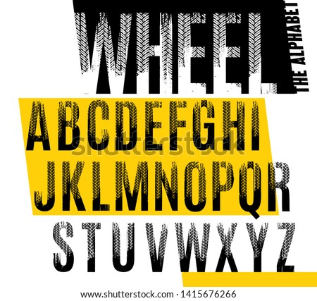 wheel grunge tire letters off