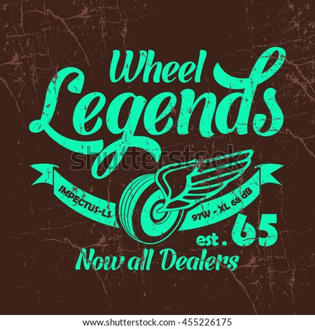 wheel legends vector t shirt