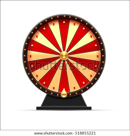wheel of fortune 3d object isolated on white ストックフォト ©
