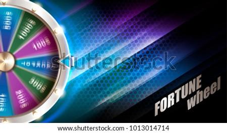 Wheel of fortune gambling background Foto stock ©