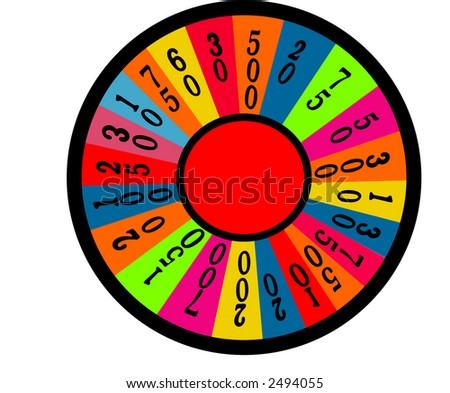wheel of fortune room for your text  vector