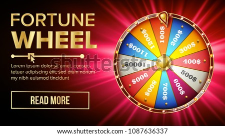 wheel of fortune vector gamble