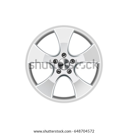 Wheel rim - vector illustration. #648704572
