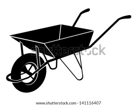 Wheelbarrow Vector Ill...