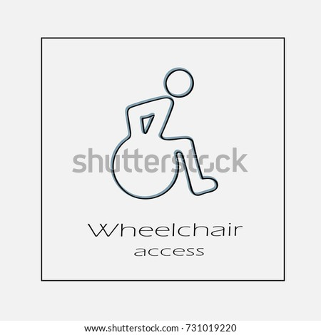 Wheelchair acess concept vector icon eps 10. Hand drawn illustration.