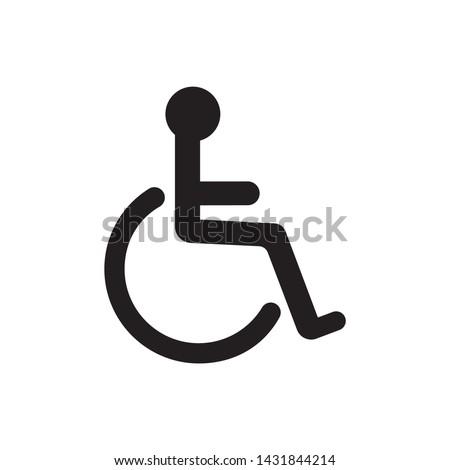 Wheelchair flat icon. Vector wheelchair icon on white background Photo stock ©