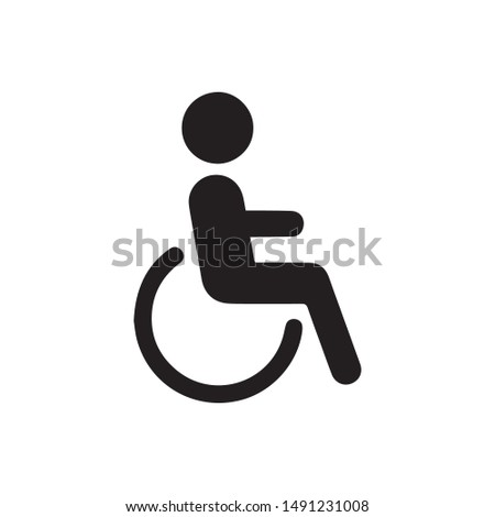 wheelchair icon vector. Linear style sign for mobile concept and web design. handicapped patient symbol illustration. Pixel vector graphics - Vector. ストックフォト ©