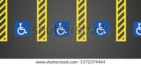 wheelchair parking space area