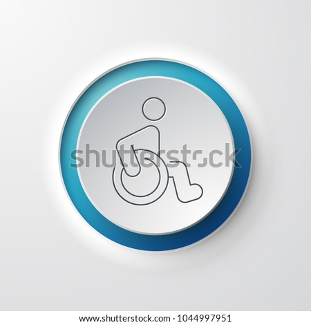 Wheelchair Web Icon #1044997951