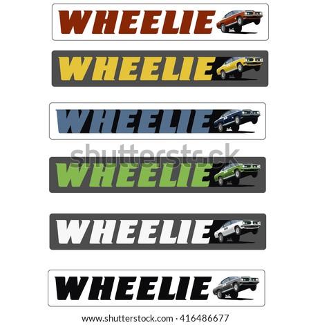 wheelie car set