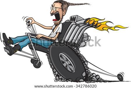 wheelie chair a cartoon