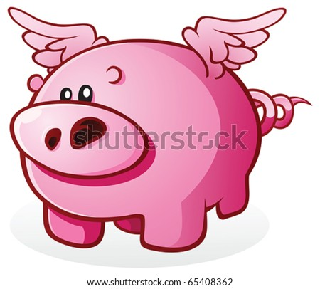 When Pigs Fly - stock vector