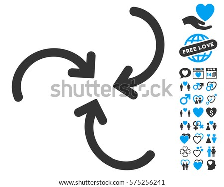 whirl arrows icon with bonus