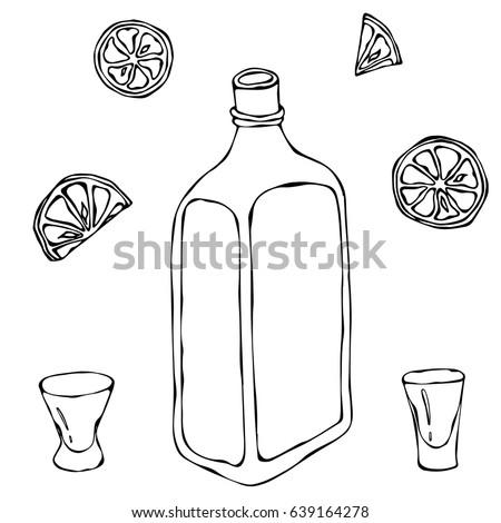 whiskey cognac or brandy bottle