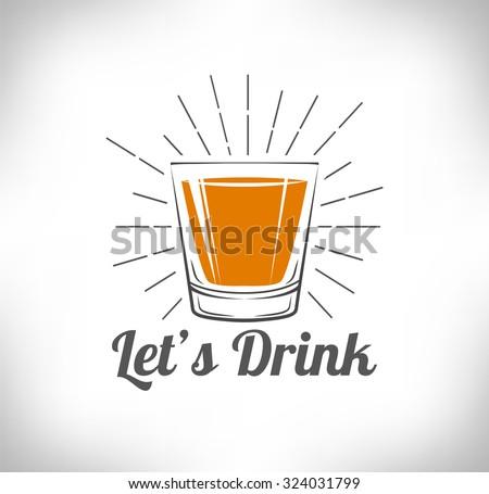 whiskey  drinking glass