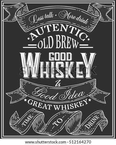 whiskey poster of alcohol with