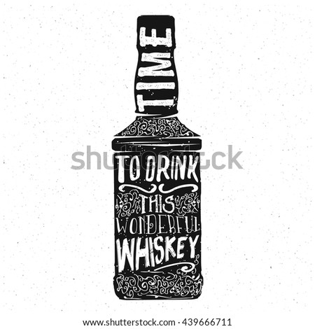 whiskey typography design