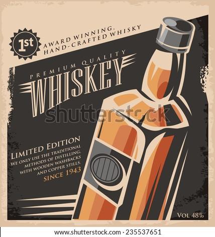 whiskey vintage poster design