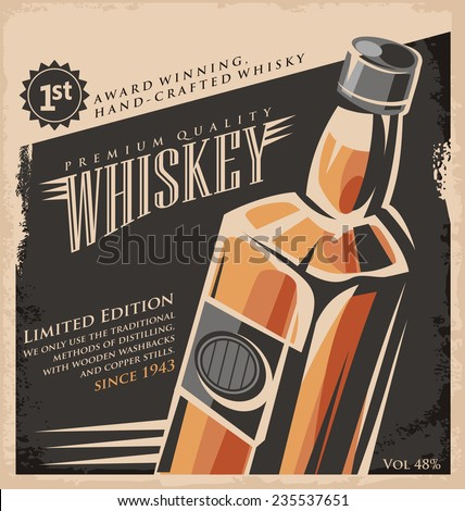 whiskey vintage poster design