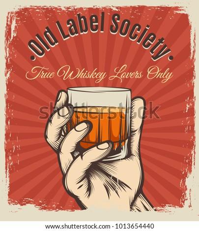 whiskey vintage poster. retro...
