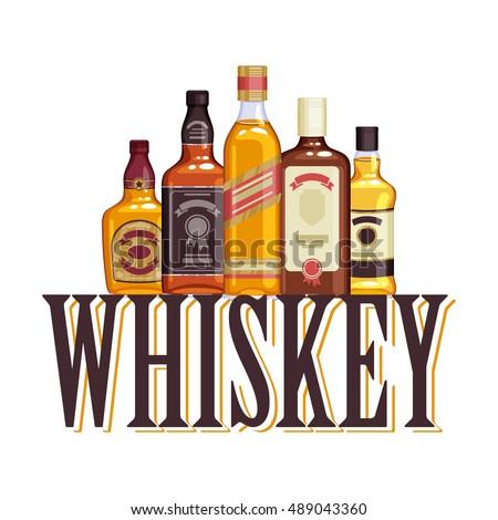 whisky bottles and glasses