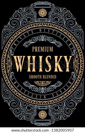 Whisky - ornate vintage decorative label