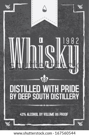 whisky typo set