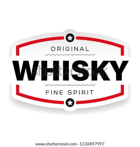 Whisky vintage label sign