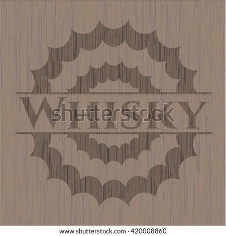Whisky wood emblem. Vintage.
