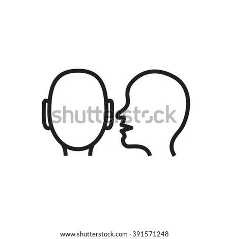 whisper icon in vector whisper