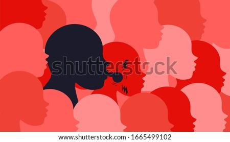 whistleblower employee concept, vector illustration Stock photo ©