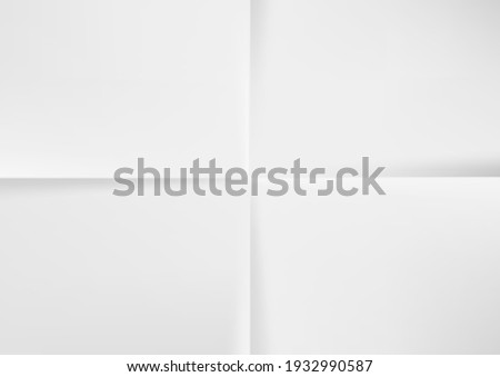 White A4 Paper Folded Four Times Top View. EPS10 Vector Photo stock ©