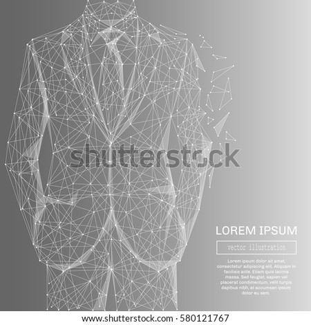 white abstract businessman in