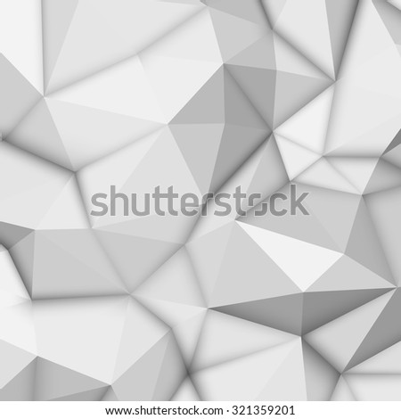 white abstract low poly