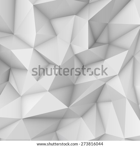 stock vector white abstract low poly polygonal triangular mosaic background for web presentations and prints 273816044 - Каталог — Фотообои «3D Текстуры»