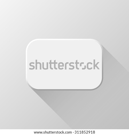 white abstract rectangle badge