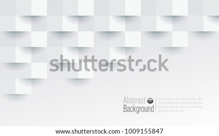 White abstract texture. Vector background 3d paper art style can be used in cover design, book design, poster, cd cover, flyer, website backgrounds or advertising. #1009155847