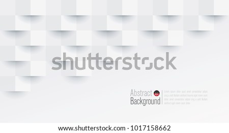 White abstract texture. Vector background 3d paper art style can be used in cover design, book design, poster, cd cover, flyer, website backgrounds or advertising. #1017158662