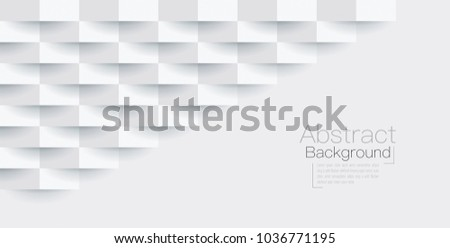 White abstract texture. Vector background 3d paper art style can be used in cover design, book design, poster, flyer, cd cover, website backgrounds or advertising. #1036771195